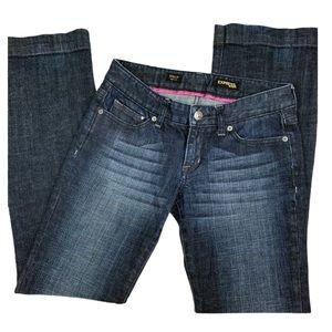 Express Sequin Bootcut Denim Jeans